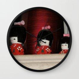Japanese Cute Dolls Wall Clock