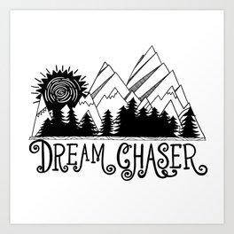 Dream Chaser, Mountain Adventure Art Print