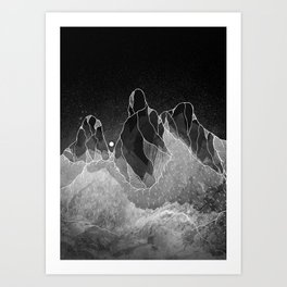 Wraith mountains Art Print