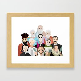 great philosophers and writers from all times Framed Art Print