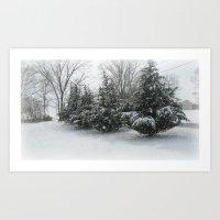 Tennessee Snow Art Print