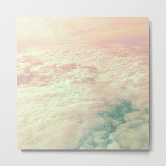 Raindbow Clouds Metal Print