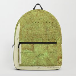 Mt. Gleason, CA from 1942 Vintage Map - High Quality Backpack
