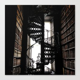 Trinity College Library Spiral Staircase Canvas Print