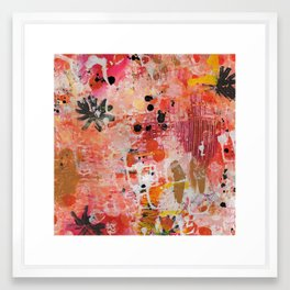 Love and Happiness Abstract 1 Framed Art Print