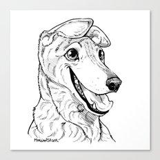 Greyhound Graphic Canvas Print