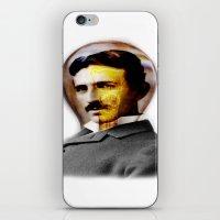 tesla iPhone & iPod Skins featuring Tesla by EclipseLio