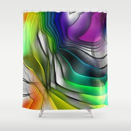 COLOR COVERGECE ABSTRACT Shower Curtain