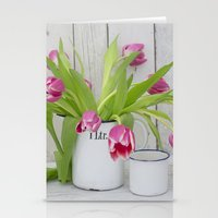 tulips Stationery Cards featuring Tulips by LebensART Photography