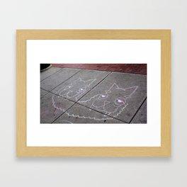 Sidewalk Llamas Framed Art Print