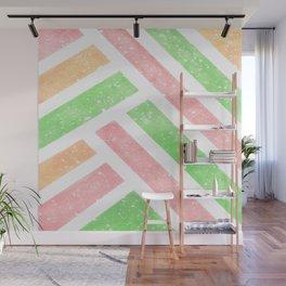 Tutti Frutti Stripes Wall Mural