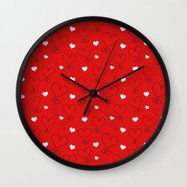 LOVE AND HEARTS Wall Clock