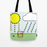 whisky Tote Bags featuring Whisky Sunlight by N140