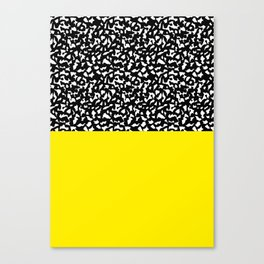 Memphis Black and Yellow 80s Pattern Canvas Print