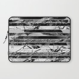 Black And White Layered Collage - Textured, mixed media Laptop Sleeve