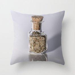 Beach Sand in a bottle Throw Pillow