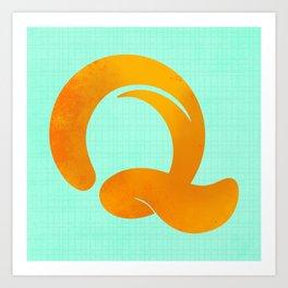 The Letter Q Art Print