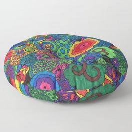 Fineliner Randomness Floor Pillow