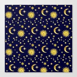 Sun, Moon & Stars Canvas Print