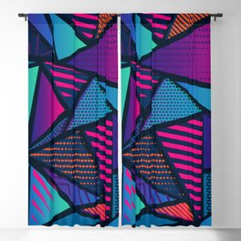 Colorful Mosaic Banners Blackout Curtain