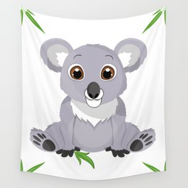 Cute Little Koala Bear Wall Tapestry