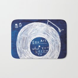 you are what you listen to, BLUE Bath Mat