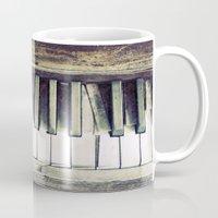 piano Mugs featuring piano by hilde.
