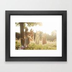 The lost fairy Framed Art Print