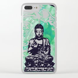 Buddha Typhoon Emerald Smoke Clear iPhone Case