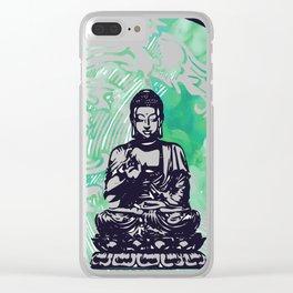 Buddha Typhoon Emerald Smoke Clear iPhone Case