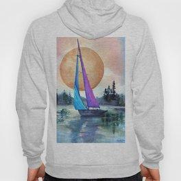 Sailing Lake Superior by Maureen Donovan Hoody