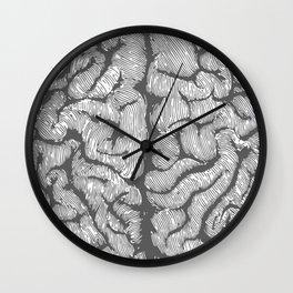 Brain vintage illustration Wall Clock