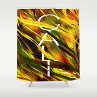 camo Shower Curtains featuring CAMO CALI by Chrisb Marquez