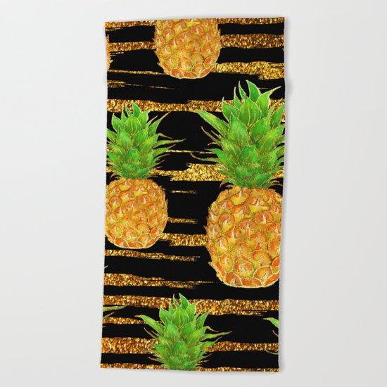 Summer Glitter #4 Beach Towel