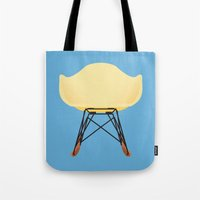 eames Tote Bags featuring Eames RAR by don't worry be happy