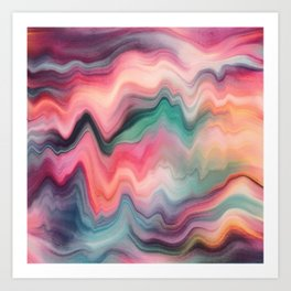 Rainbow Marble Art Print