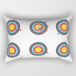 Shooting Arrows Pattern Rectangular Pillow