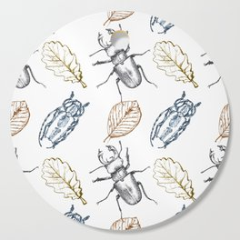 Bugs and leaves Cutting Board