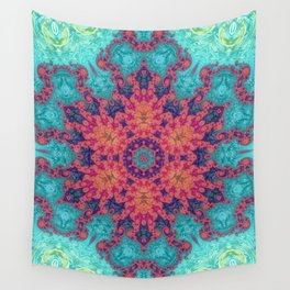 Rainbow Fractal Kaleidoscope Wall Tapestry