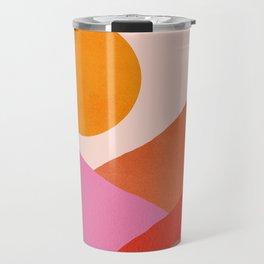 Abstraction_Mountains_SUNSET_Minimalism_008 Travel Mug