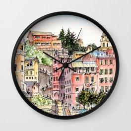 Vernazza, Italy, 2016 Wall Clock