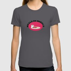 Meals On Wheels LARGE Asphalt Womens Fitted Tee