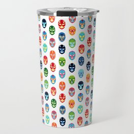 Lucha libre mask pattern Travel Mug