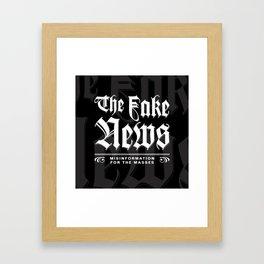 The Fake News Header Framed Art Print