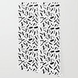 "simple abstract geometric ""confetti"" pattern Wallpaper"