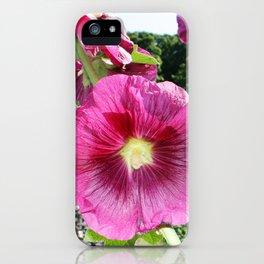 Hollyhocks in the Dream Garden iPhone Case
