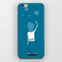 BUBBLES FIZZ ON MY MIND iPhone Skin