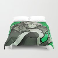 rogue Duvet Covers featuring Rogue by Miss-Lys