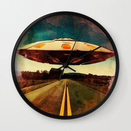 UFO Road Wall Clock