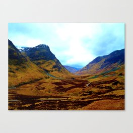 Glencoe, Scottish Highlands, in the Autumn Canvas Print